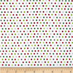 Holly Jollies Dots White
