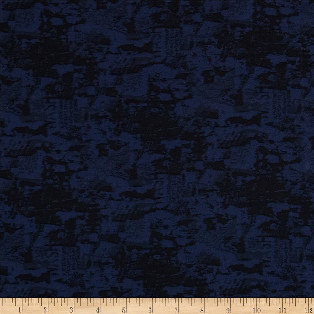 Chicago Jacquard Stretch Denim Blue/Black