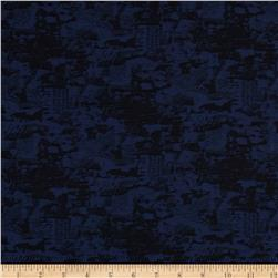 Chicago Jacquard Stretch Denim Blue/Black Fabric