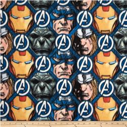 Marvel Avengers Assemble Fleece Avenger Faces Gray