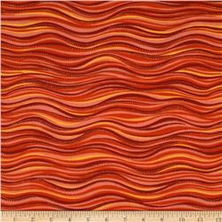 Laurel Burch Sea Spirits Metallic Waves Orange
