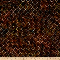 Timeless Treasures Tonga Batik Vineyard Moroccan Tile Fudge