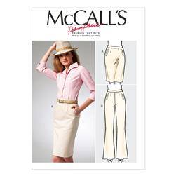 McCall's Misses' Pencil Skirt and Pants Pattern M6757 Size B50