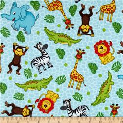 Classic Cottons Jungle Power Flannel Jungle Animals Multi