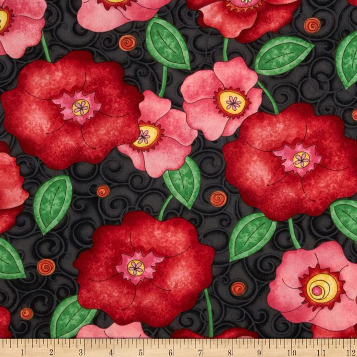 Vogue Large Floral Red
