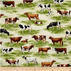 Robert Kaufman Down on the Farm Animal Toille Natural