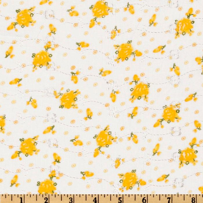 Floral Eyelet Maize