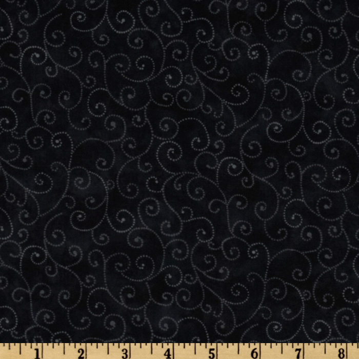 Moda Marble Swirls (9908-29) Jet Black Fabric