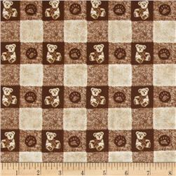 Boyds Bears Bear Tonal Check Brown