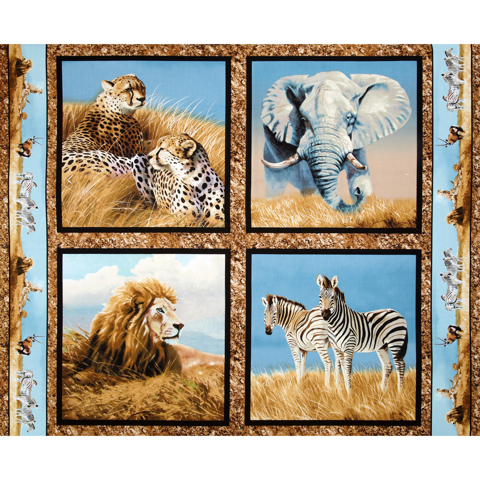 Wild Wings Kenyan Plains Pillow Panel Fabric