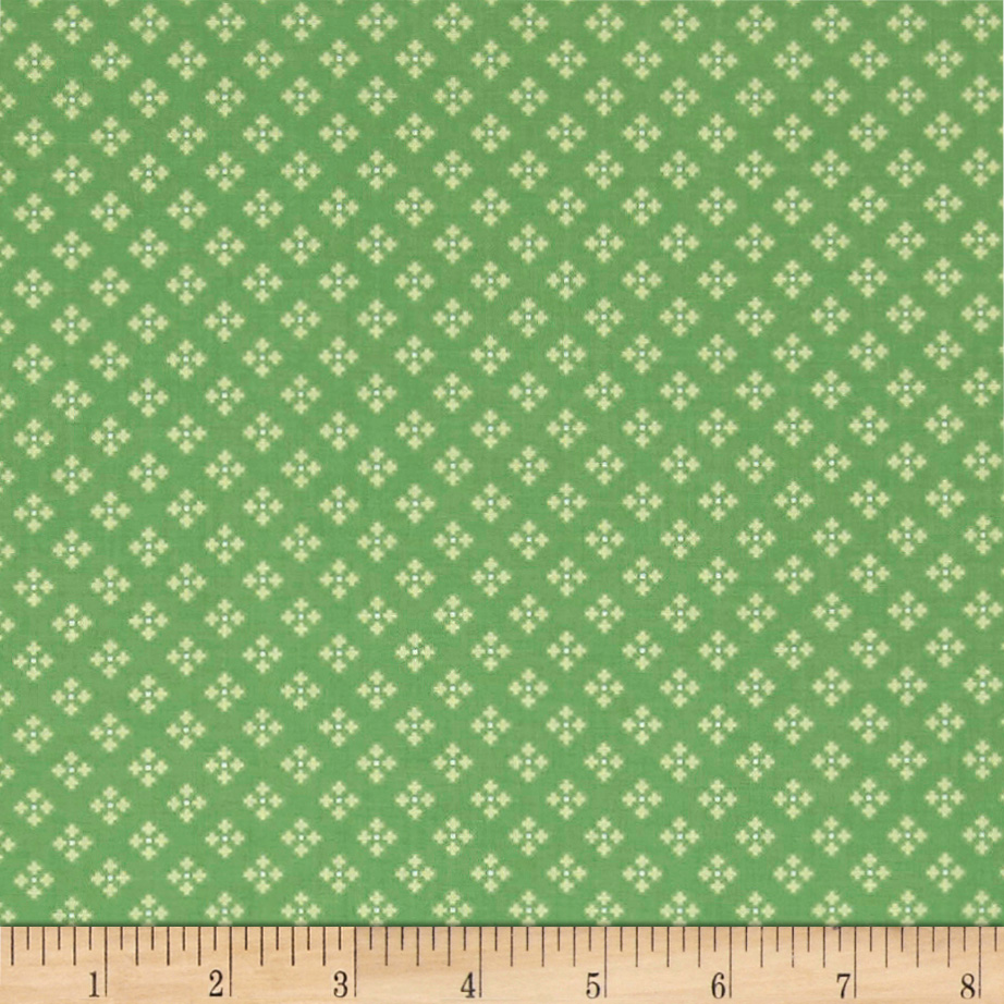 INOpets.com Anything for Pets Parents & Their Pets Contempo Winter Games Dots Green Fabric
