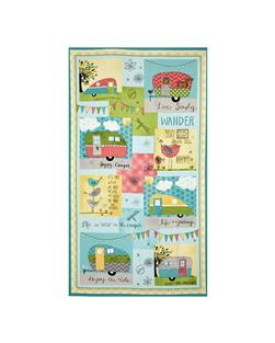 "On The Road Again Craft 25"" Panel Multi"