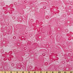 Timeless Treasures Pink Ribbon Breast Cancer Awareness Pink