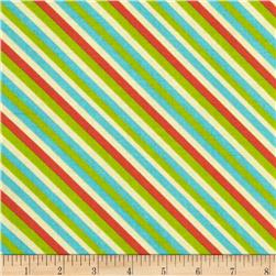 Happy Holiday's Diagonal Stripe Multi