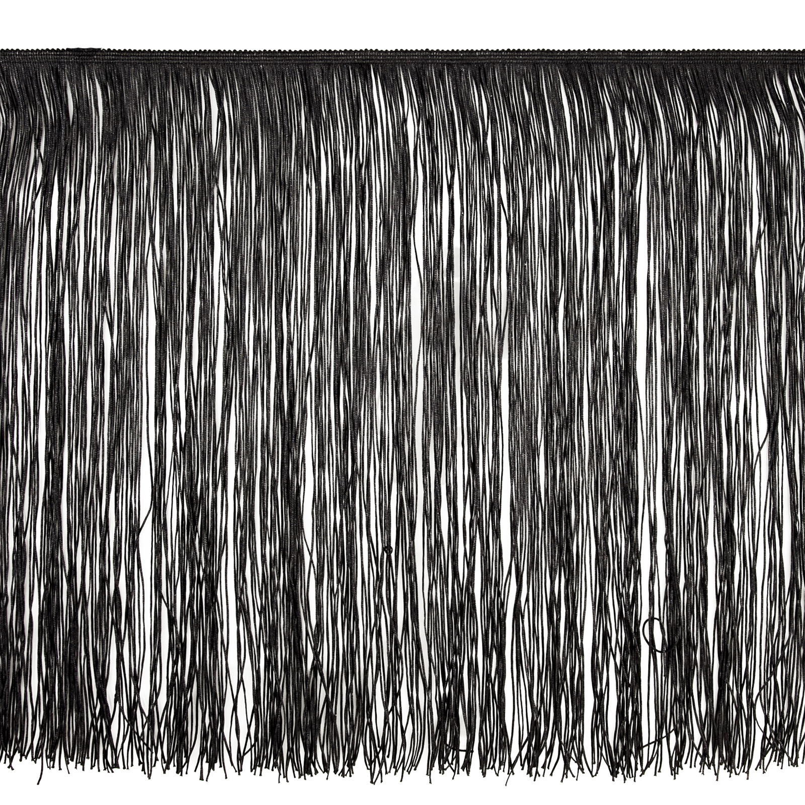 18'' Chainette Fringe Trim Black by Expo in USA