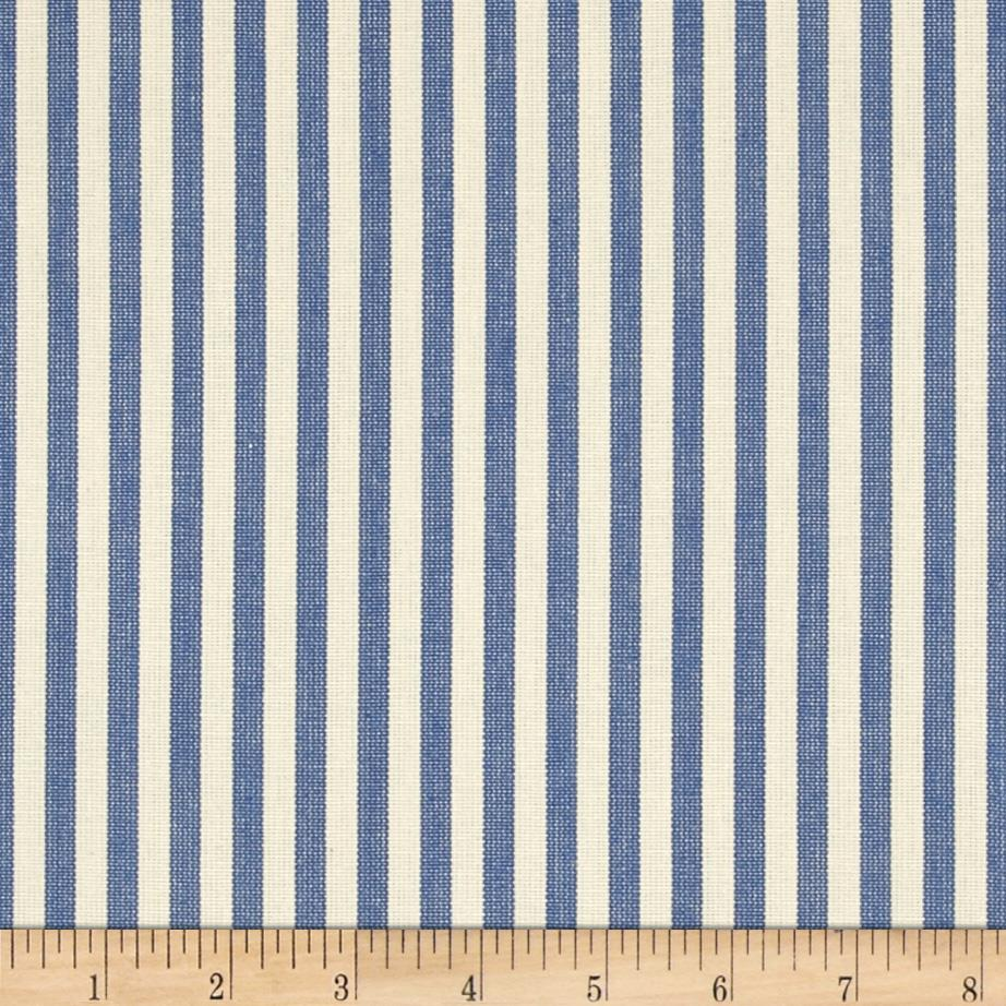 Benartex Home Patra Stripe Blue/Off White