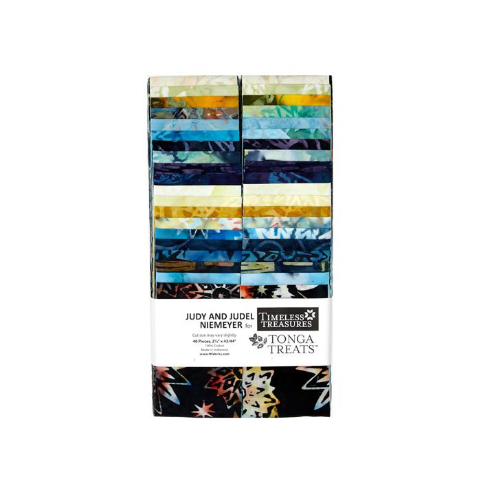 "Timeless Treasures Batiks 2.5"" Strips Lakeshore"