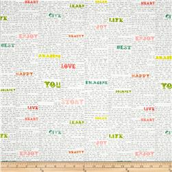 Love Notes Words Print White/Multi
