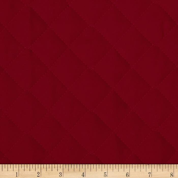 Double Sided Quilted Broadcloth Ming Red Fabric By The Yard