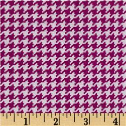 Michael Miller Tiny Houndstooth Magenta Fabric