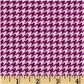 Michael Miller Tiny Houndstooth Magenta