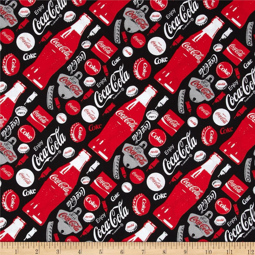 Coca Cola Allover Print Black