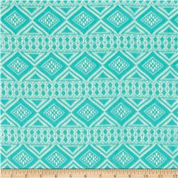 Crochet Lace Aztec Diamonds Aqua