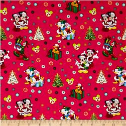 Mickey and Friends Christmas Red