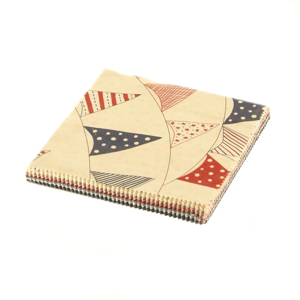 Moda Red, White & Free 5in Charm Pack