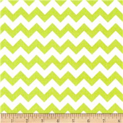 Riley Blake 58'' Manufactures Cut Small Chevron Lime