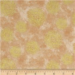 Autumn Treasures Medallions Metallic Ivory