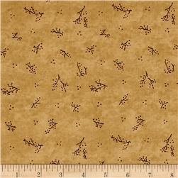 Moda Forever Green Twigs Burlap