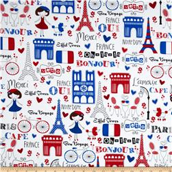 Paris Collage White