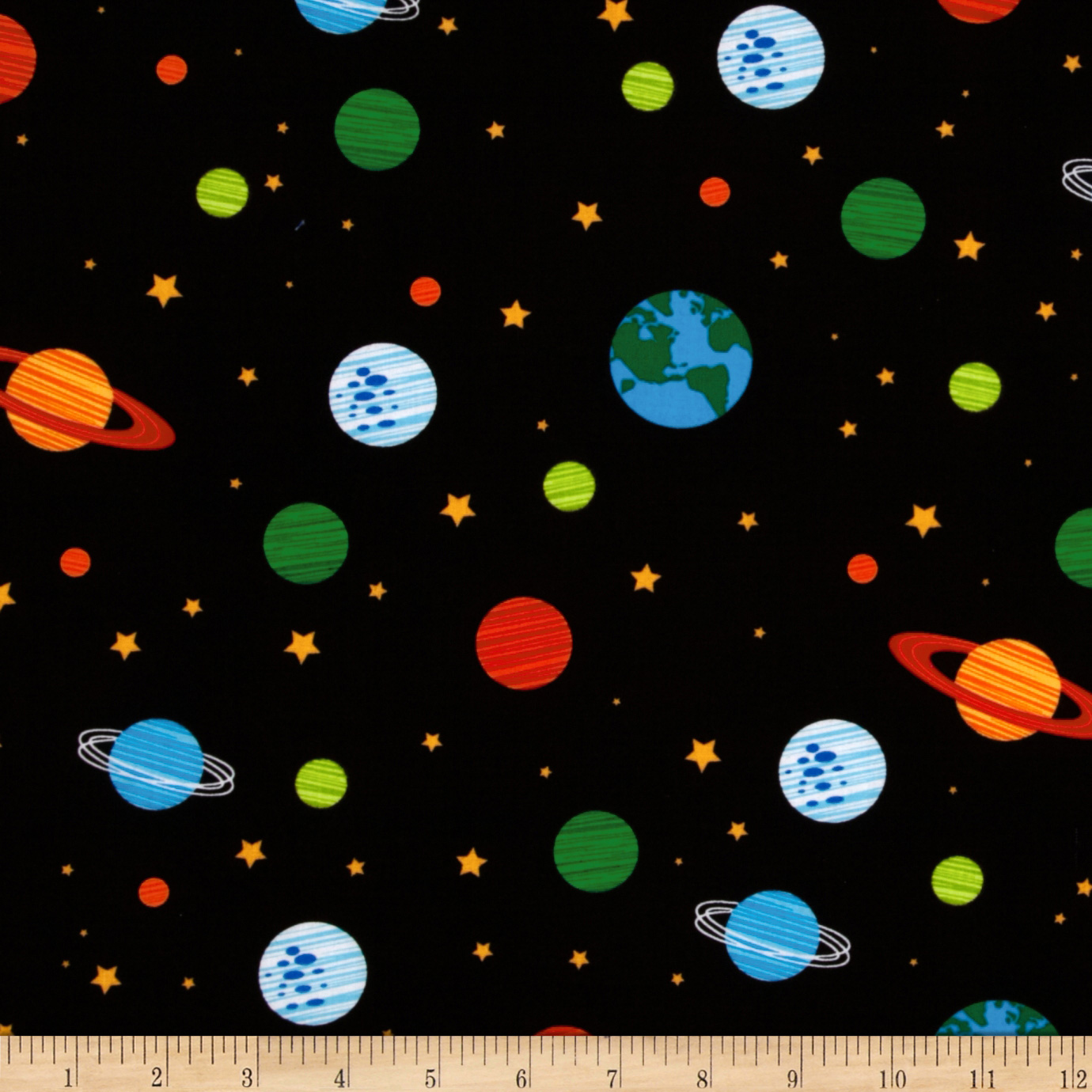 Orbit Solar System Black Fabric