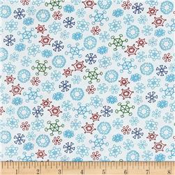 Frosty the Snowman Everyone's Fav Snowman Snowflakes White