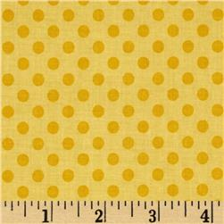 Riley Blake Small Dots Tone on Tone Yellow