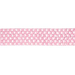 "1 3/4"" Crochet Headband Trim Pink"