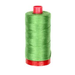 Aurifil 12wt Embellishment and Sashiko Dreams Thread Grass Green