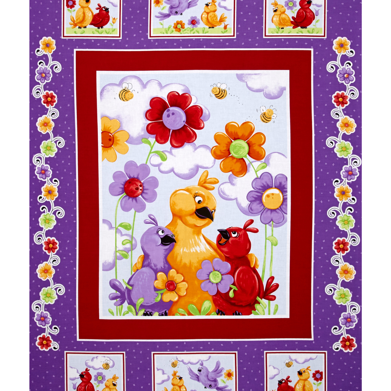 Susybee Bird 36 In. Panel Multi Fabric by Susybee in USA