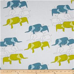 Zaza Zoo Elephant Blue/Lime