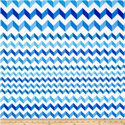Crinkle Stripe White/Blue