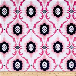 Minky Flourish Cuddle  Paris Pink
