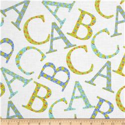 Michael Miller Cynthia Rowley Oh Baby ABC Toss Aqua