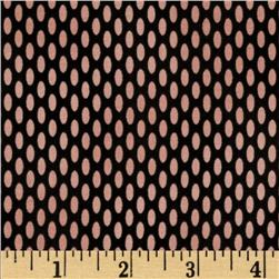 Home Essential Oval Dots Black/Pink