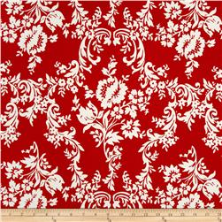Riley Blake Lost and Found 2 Damask Red