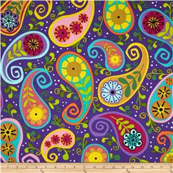 Dazzle Circle Paisley Purple