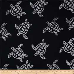 Indian Batik Sandy Hook Turtle Black/White