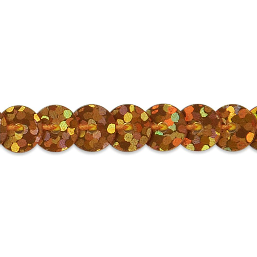 6mm Slung String Sequin Trim Roll Orange