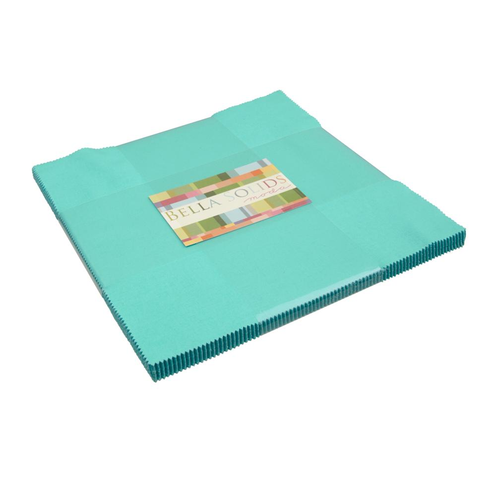 Moda New Bella Solids 10'' Layer Cake Robin's Egg Blue