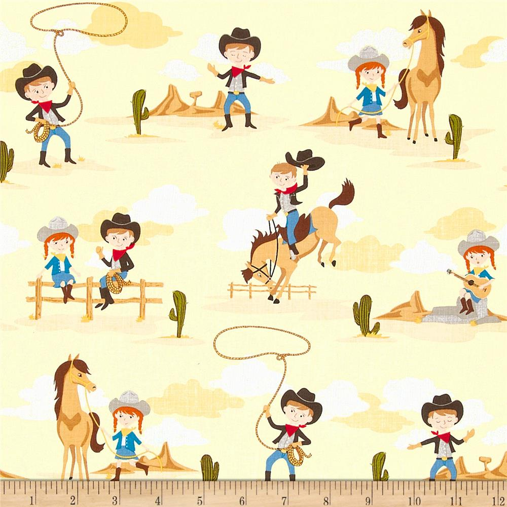 Riley Blake Sasparilla Little Cowboys Cream